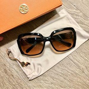 Tory Burch Sunglasses (Black/Gray Orange Fade)
